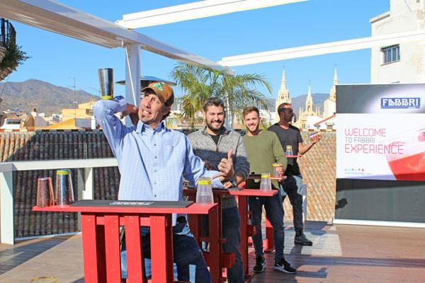 Nuestra terraza en Málaga recibe el curso de coctelería Fabbri Mixoflair