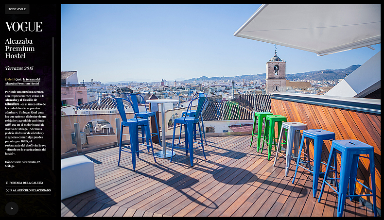 One of the best Terraces in Spain, according to Vogue magazine