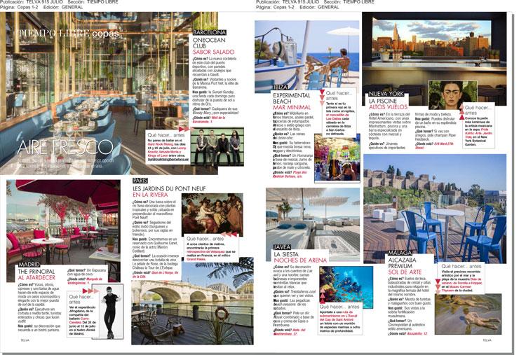 Ahora es la revista Telva la que recomienda Sol de arte en la Terraza del mejor hostel de Málaga