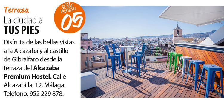 The best hostel in Malaga's Rooftop Terrace in Cuore magazine