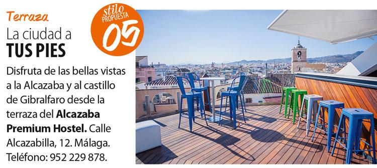 La Terraza del mejor hostel de Málaga ahora en la revista Cuore