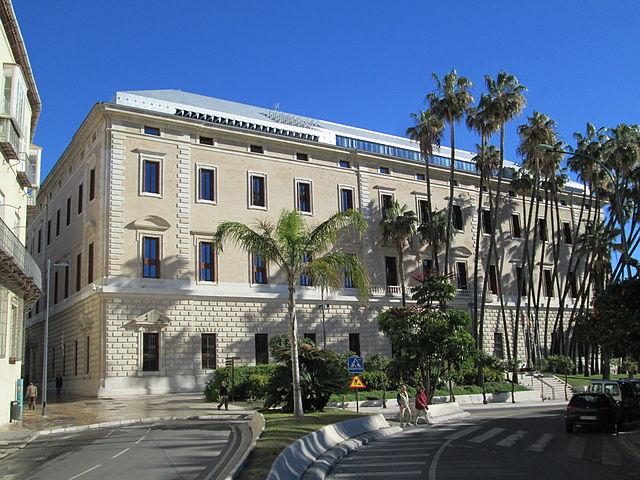 Museo de Aduanas de Málaga, at the very doorstep of our hostel in Málaga