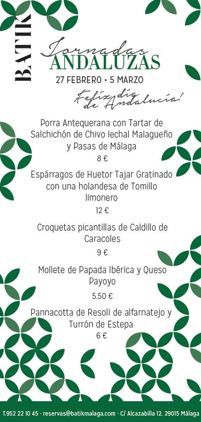 Jornadas Andaluzas para el Día de Andalucía en Batik