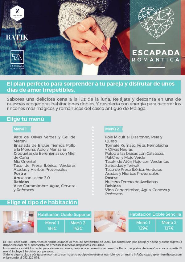 Oferta de escapada romántica en Alcazaba Premium Hostel