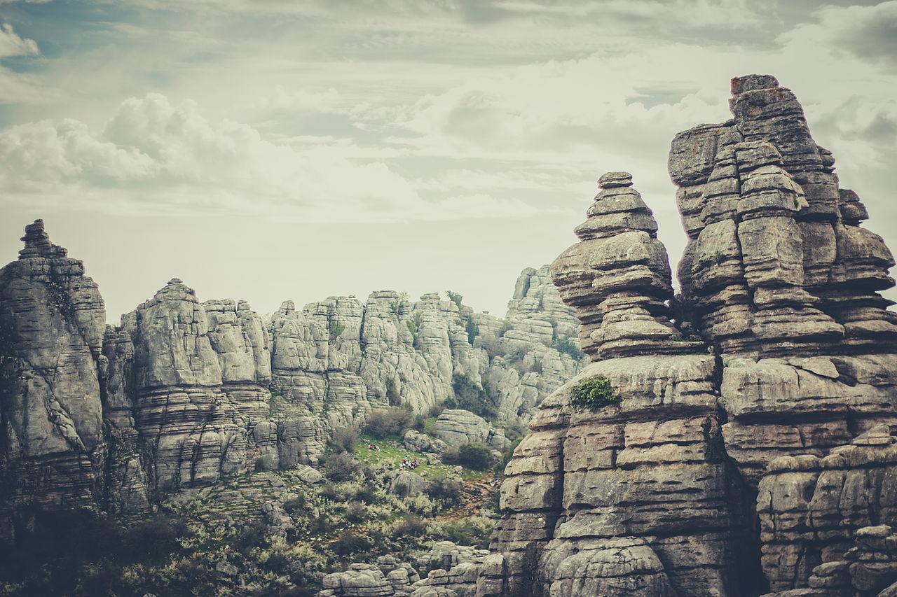 Una maravillosa vista del Parque Natural de El Torcal, en Antequera.
