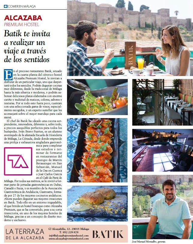 Batik en Lo Mejor de Málaga