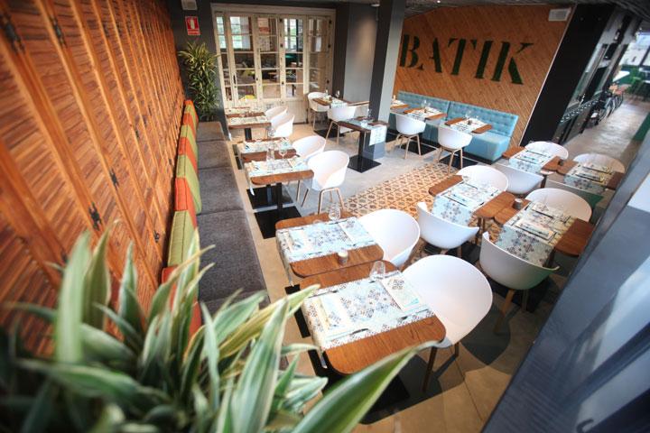 Batik Restaurant, in the 4th floor of the best hostel in Malaga
