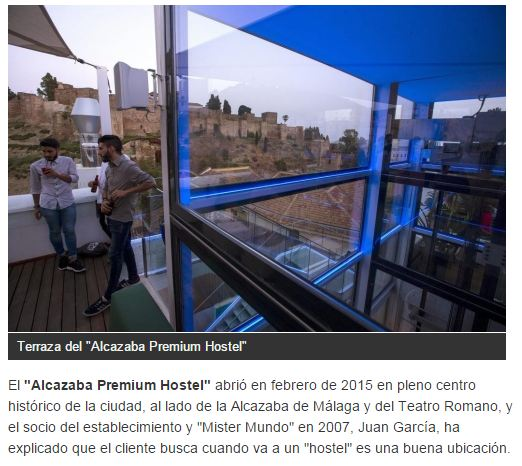 Alcazaba Premium Hostel in the article of the newspaper La Razón