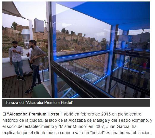 Alcazaba Premium Hostel en el artículo de La Razón