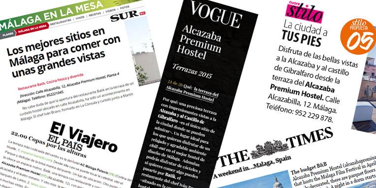 Alcazaba Premium Hostel, el mejor hostel de Málaga en los medios